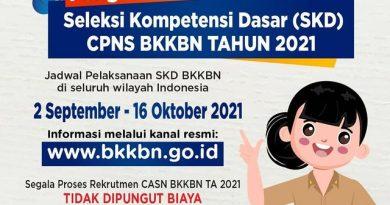 Pelaksanaan Tes SKD CPNS Perwakilan BKKBN Provinsi Bengkulu Tahun Anggaran 2021